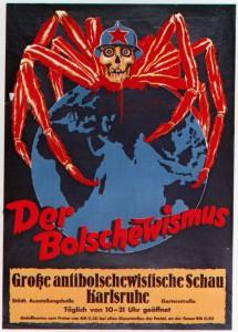 Affiche publicitaire du NSDAP pour un spectacle antibolchevique, Karlsruhe, 1940