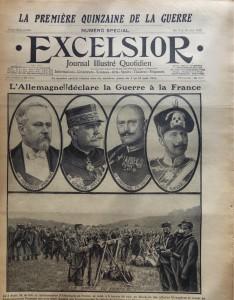 Numéro spécial de l'Excelsior, résumant les numéros parus entre le 3 et le 15 août 1914.