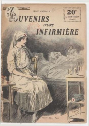 Couverture du livre Souvenirs d'une infirmière de Julie Crémieux