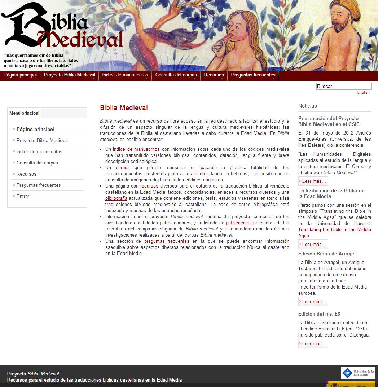 Biblia Medieval   Página principal