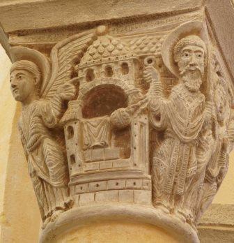 Zacharie en habit sacerdotal, Notre-Dame-du-Port (Clermont-Ferrand), début XIIe siècle / Cliché S. Biay