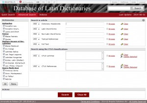 Database of latin dictionnaries (2)