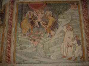 Thomas Aquinas's death (15th century) - Santa Maria del Piano, Abbruzzo, Italia
