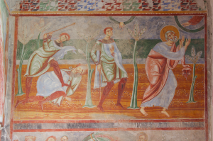 late 11th-century mural from Sant'Angelo in Formis (Campania)