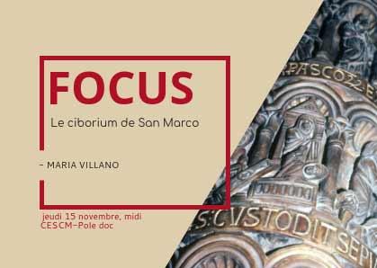 [15 novembre] Focus n° 2 : le ciborium de San Marco