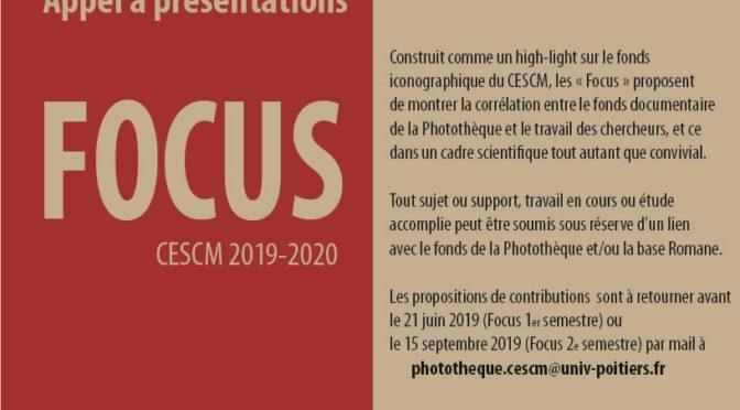 Appel à contributions FOCUS année universitaire 2019-2020