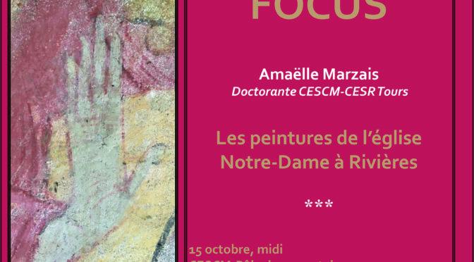 [15 oct. 2019] Focus n° 1 : les peintures de l'église Notre-Dame à Rizières