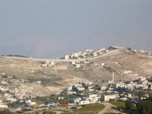 Le mur de sécurité à Jérusalem (avril 2009. cliché E. Verdeil)