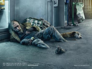 Homelessness awareness  campaign