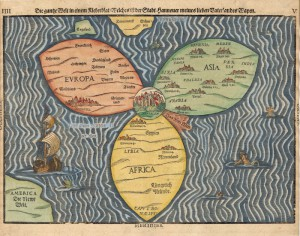 Image 1: Bunting's Map of the World