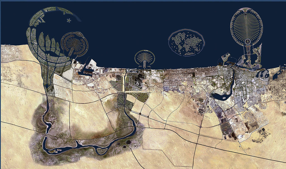 Dubai mapping dreams centres and centralities the buzzfeeds map of dubai supposedly from google earth gumiabroncs Images