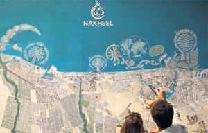 The Dubai project map of Nakheel Properties, taken from Emirates247 Newspaper