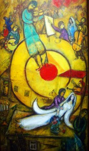 """""""Résistance, Résurrection, Libération"""" of Marc Chagall, painted between 1937 and 1948. A property of Centre Pompidou, Paris, France, it is on display at the Musée national Marc Chagall, Nice, France."""