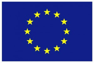 The EU Flag with the twelve stars, inspired by the Biblical image of the woman with a twelve-star crown