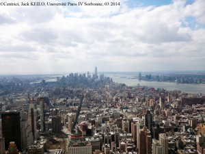 Figure 1: Lower Manhattan, with its highest building, the One World Trade Center, the tallest skyscraper in the Americas. View taken from the Empire State Building.