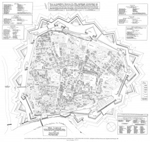 Fifure 6: A detailed map of Vienna by Suttinger, 1683