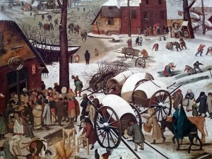 FIGURE 3. Detail from Bruegel's Census at Bethlehem, between Mary and the tax collectors