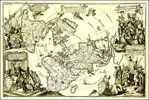 Society of Jesus in the world, map by Heinrich Scherer, c.1703
