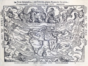 FIGURE 1. Charta Cosmographica, by Gemma Frisius, c.1544