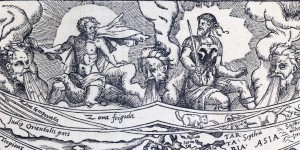 Detail from the Charta Cosmographica, Zeus and Mars