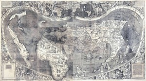 FIGURE 2. The Universalis Cosmographia of Waldseemüller, 1507