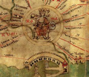 FIGURE . Rome, detail from Tabula Peutingeriana