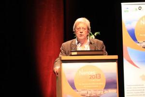 Bernard Barraqué, coordinateur du projet EAU&3E, à l'ouverture du séminaire. Source : C. Prevedello.