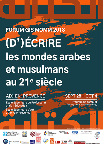 """Résultat de recherche d'images pour """"Forum du GIS MOMM  -  (D')Écrire les mondes arabes et musulmans"""""""