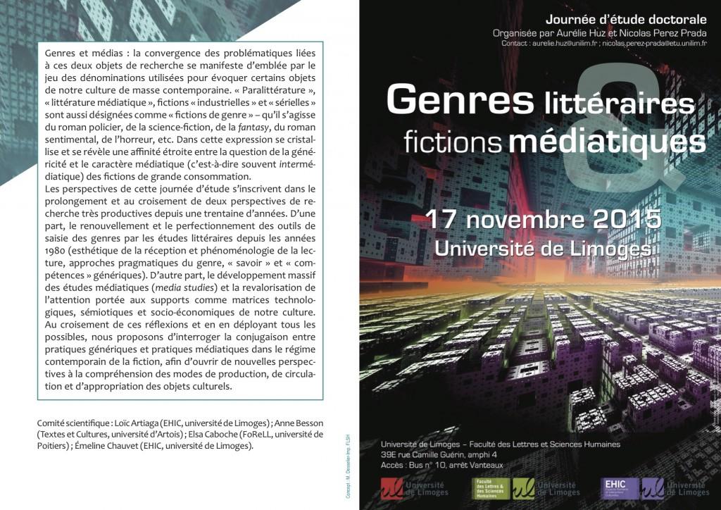 Programe Genres littéraires et fictions médiatiques p1