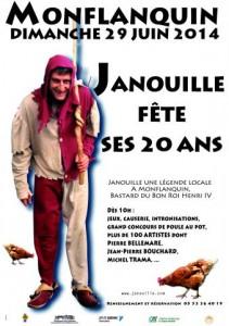 L'affiche des 20 ans de Janouille