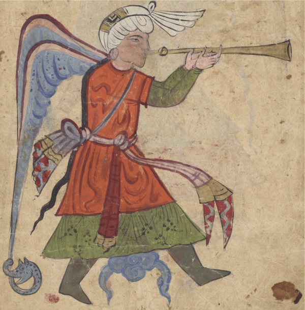 Source : al-Qazwīnī, <em>ʿAǧāʾib al-maḫlūqāt</em>, Paris, BnF, Smith-Lescouëf 221, fol. 33b ; sur gallica.bnf.fr/ (Bibliothèque nationale de France).