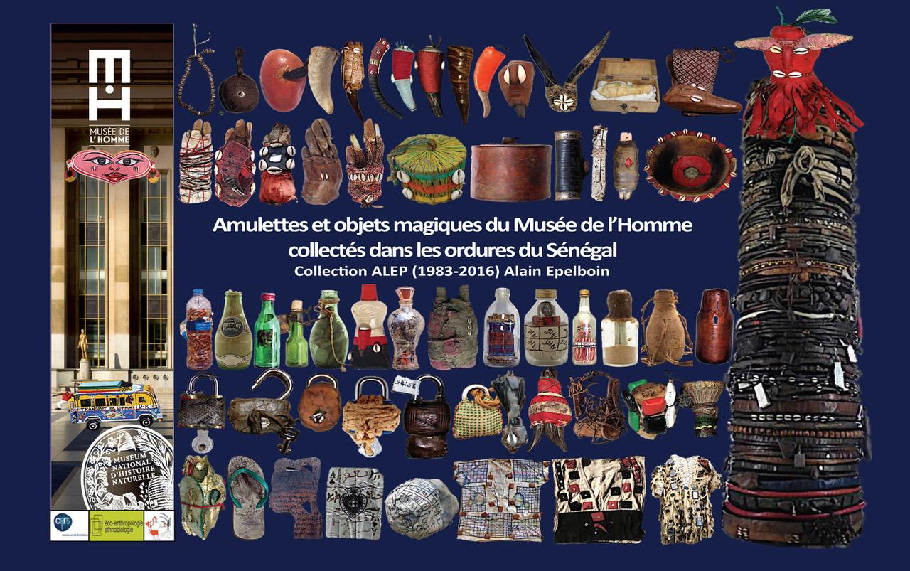 Amulettes et objets magiques du Musée de l'Homme collectés dans les ordures du Sénégal