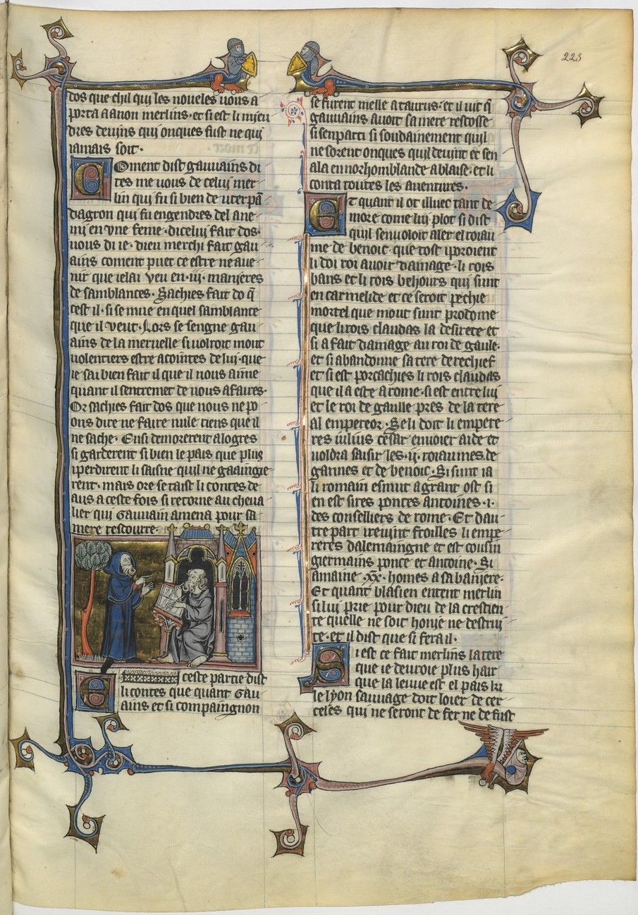 Enluminure représentant Merlin