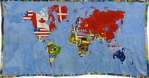 Mappa, 1971-1972, 201, 9 x 374, 7 cm, Glenstone, © Alighiero Boetti by SIAE/VEGAP,