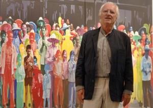 """04/09/2009. Cr�dito: Iano Andrade/CB/D.A Press. Brasil. Bras�lia - DF. Artista Franc�s Gerard """"Fromanger, mostra obras expostas no Centro Cultural Banco do Brasil - CCBB."""