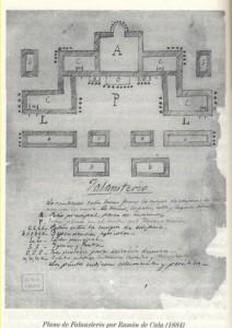 Plano de falansterio, inserto en el informe para la mejora de la clase obrera de Ramón de Cala (1884), Archivo Histórico Provincial de Cádiz.
