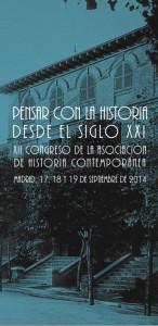 Cartel XII Congreso de Historia Contemporánea (UAM-UCM-AHC), Madrid 2014