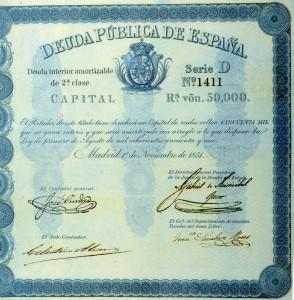 Título de deuda amortizable interior de 1851