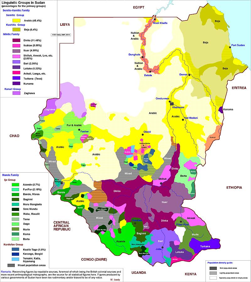 map_sudan_languages