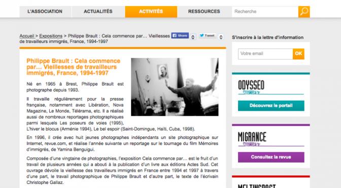 «Cela commence par…» (2003), Première exposition virtuelle sur le web français dédiée à l'immigration maghrébine ?