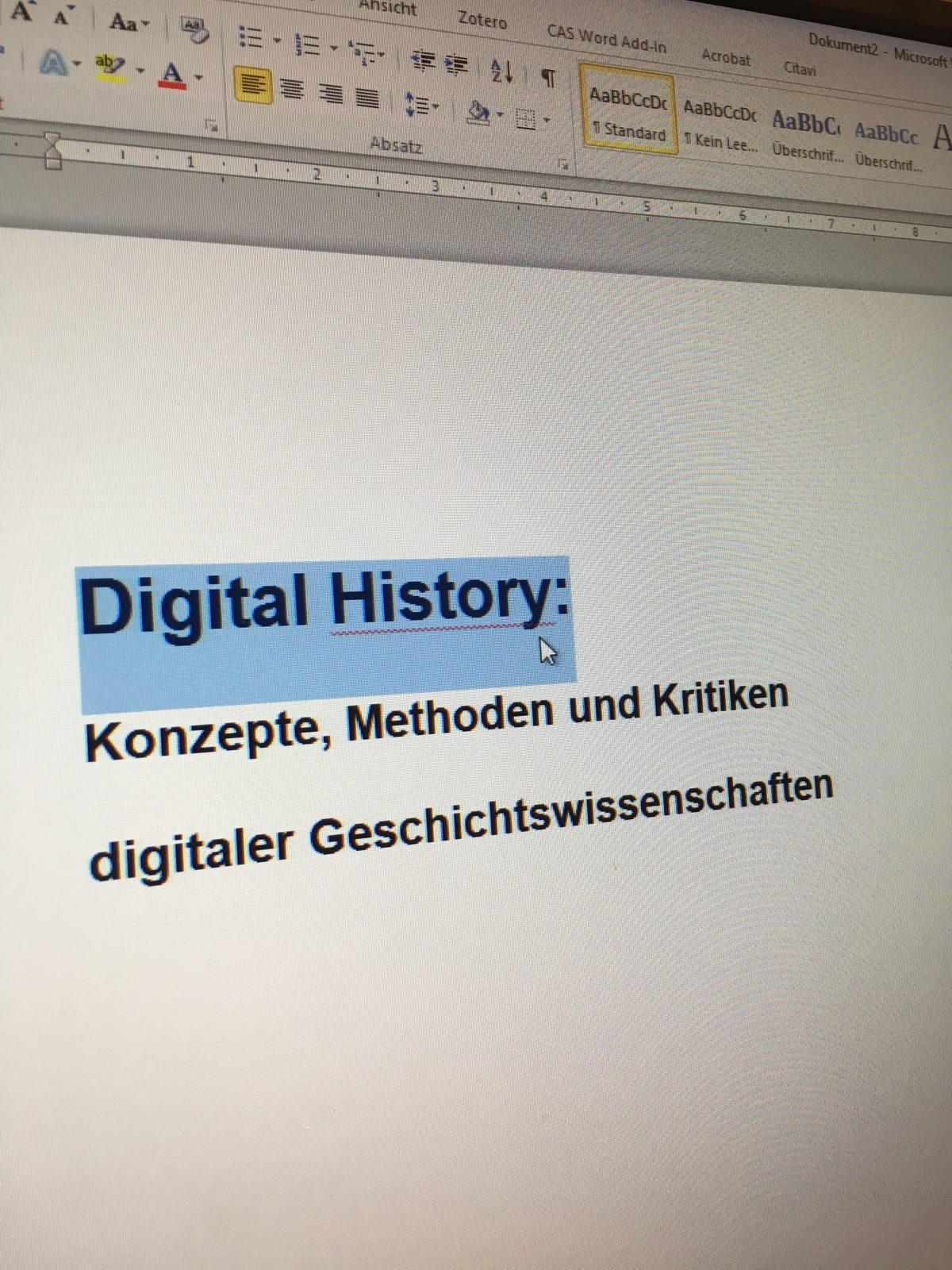 CfP: Digital History: Konzepte, Methoden und Kritiken digitaler Geschichtswissenschaften