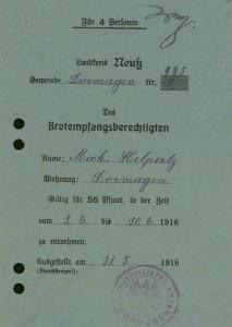 Brotkarte 1916