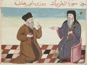 Al-Biṭrīrk et le vizir de Sābūr
