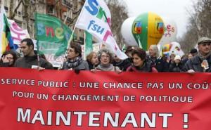 Manifestation des fonctionnaires, fin janvier 2013 - © AFP / Pierre Verdy (source)