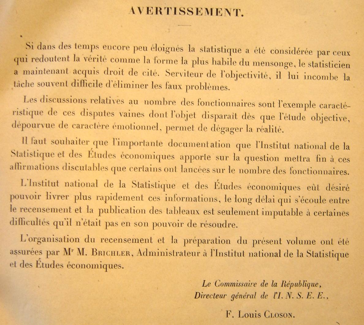 Source : Recensement général des agents des services publics, Paris, Imprimerie nationale & PUF, 1949.