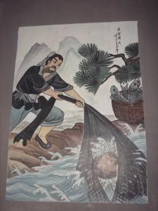 2. légende de la mort de Zhang Fei, peinture temple de Zhuozhou (Heubei), 2007