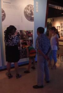 Visiteurs au musée de Yunyang3, 2014