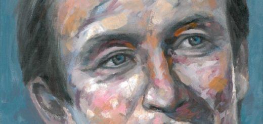 Portrait de Jacques Dars par Shi Li 施莉 - Aix-en-Provence - Acrylique sur toile, 30x40 cm, mai 2014