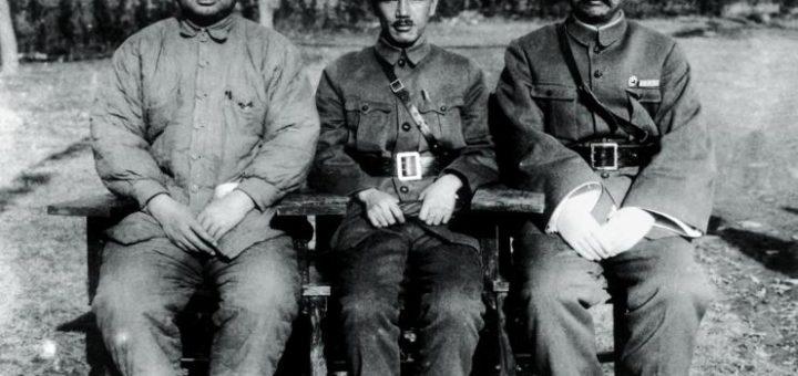 Feng Yuxiang, Chiang Kai-shek et Yan Xishan à une conférence du Kuomintang en 1930