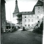 Burg Mylau, Neubau des Südwest-Flügels, um 1908 (Mus. Burg Mylau).